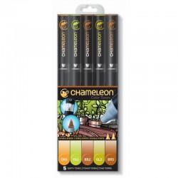 Chameleon 5-Pen Set Earth