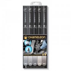 Chameleon 5-Pen Set Grijze tinten