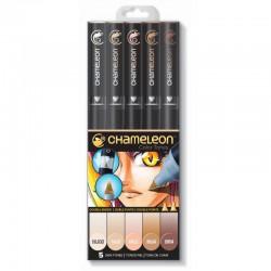 Chameleon 5-Pen Set Huid tinten