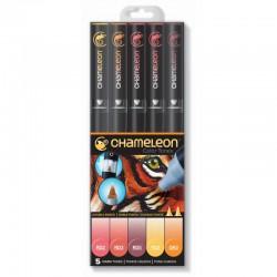Chameleon 5-Pen Set Warme tinten