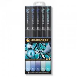 Chameleon 5-Pen Set Blauwe tinten