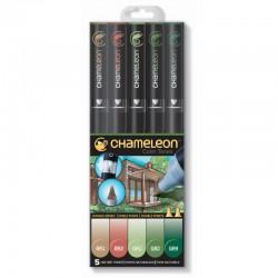 Chameleon 5-Pen Set Natuur tinten
