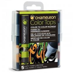 Chameleon 5-Colour Tops set Earth Tones
