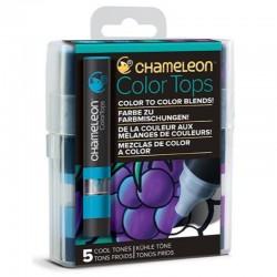 Chameleon 5-kleur Color Tops Koude kleuren