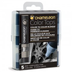 Chameleon 5-Colour Tops set Gray Tones