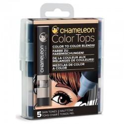 Chameleon 5-kleur Color Tops Huid kleuren