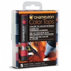 Chameleon 5-kleur Color Tops Warme kleuren