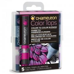 Chameleon 5-Colour Tops set Floral Tones