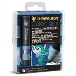 Chameleon 5-kleur Color Tops Blauwe kleuren