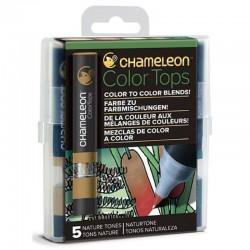 Chameleon 5-Colour Tops set Nature Tones