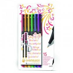 Chameleon Fineliner 6-Pen Primaire kleuren Set