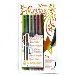 Chameleon Fineliner 6-Pen Nature Colors Set