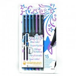 Chameleon Fineliner 6-Pen Cool Colors Set
