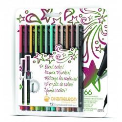 Chameleon Fineliner 12-Pen Designer Colors Set