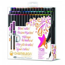 Chameleon Fineliner 48-Pen Brilliant Colors Set