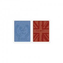Text. Fad. Emb. Folders 2PK - London Icons & Union Jack Set