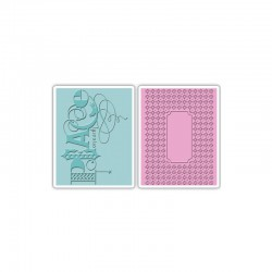 Text. Impr. Emb. Folders 2PK - Peace Set by Brenda Walton