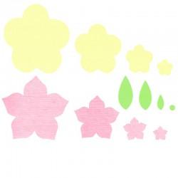 Framelits 12 pcs Floral frames 0.64x0.64-7.94x8.26cm