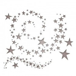 Thinlits 9 pcs Tim Holtz, Swirling stars 10.16x12.38-1.27x1.59cm