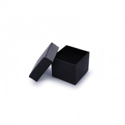 Jewellery gift box black cardboard and velvet foam 5x5x3.5cm