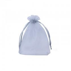 Organza bag - 9x12cm 12pcs silver