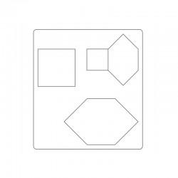 Bigz Die - Honeycombs & Squares, 1'' & 1 1/2'' Sides