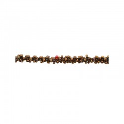 Braided seed bead cord 5mm x10m. Bronze