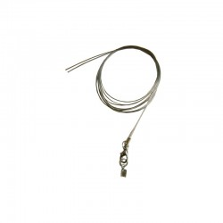 Nylon coated 2 cords 60cm w/lobster clasp and tag