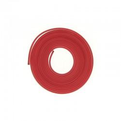 PVC flat band 6x2mm x2 metres raspberry