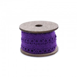 Vintage spool lace x3 metres purple
