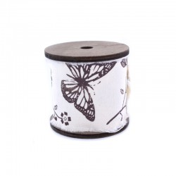 Vintage spool large tape butterfly x3m
