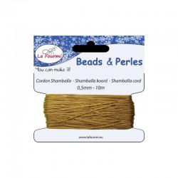 Carded shamballa cord 0,5mm x10m beige
