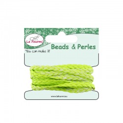 Carded flat braid 5mm x3m lime