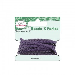 Carded flat braid 5mm x3m purple