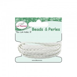 Carded flat braid 5mm x3m white