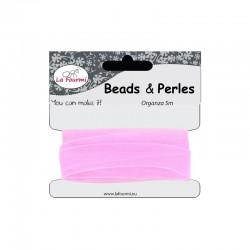 Card organza ribbon 12mm x5m pink