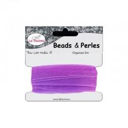 Card organza ribbon 12mm x5m purple