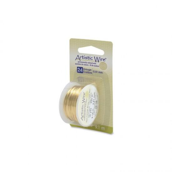 Aluminum wire 51mm x 9,1m Gold