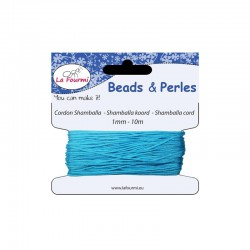 Carded shamballa cord 1mm x10m turquoise