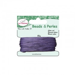 Carded waxed cotton 1mm x10m lilac