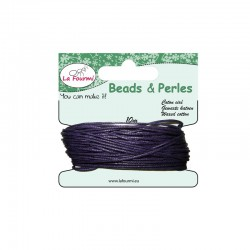 Carded waxed cotton 1mm x10m purple