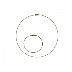 Cable neck ring + bracelet silver