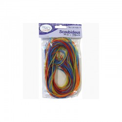 Pack scoubidou cords 80cm assorted x100pcs