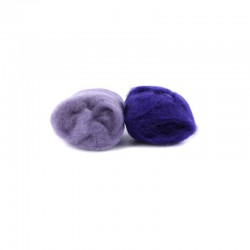 Assort. Felting wool lila/purple 10g