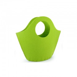 Felt bag 25x21x6cm lime green°