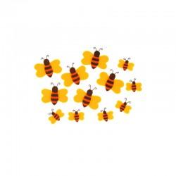 Assort. Felt bees (12 pcs)