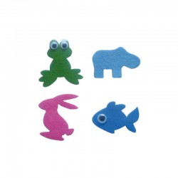 Set adhesive felt designs° animals