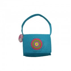 Felt barbie bag 17x12x6cm turquoise