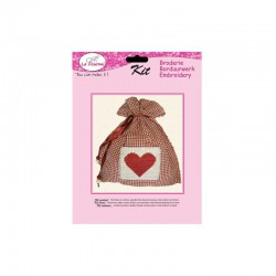 Cotton bag with embroidery patch heart