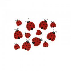 Assort. Felt ladybirds (12 pcs)